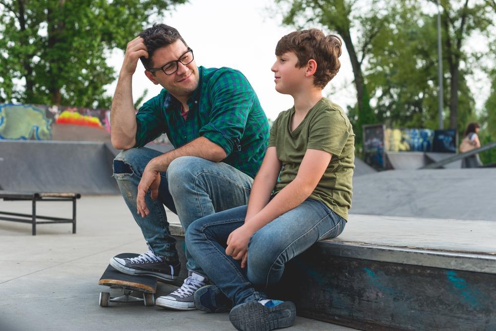 ShadyOak-Dad-talking-to-son
