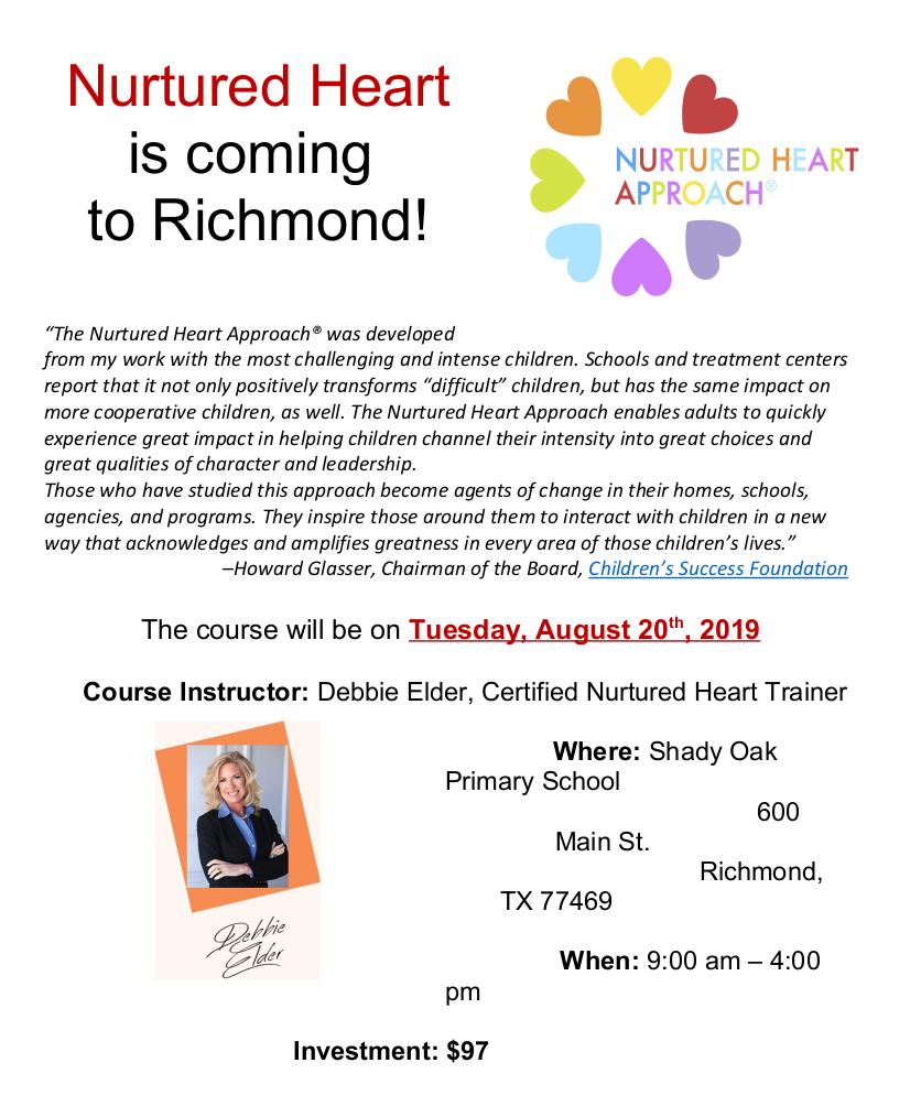 Nurtured Heart Flyer AUGUST 20, 2019