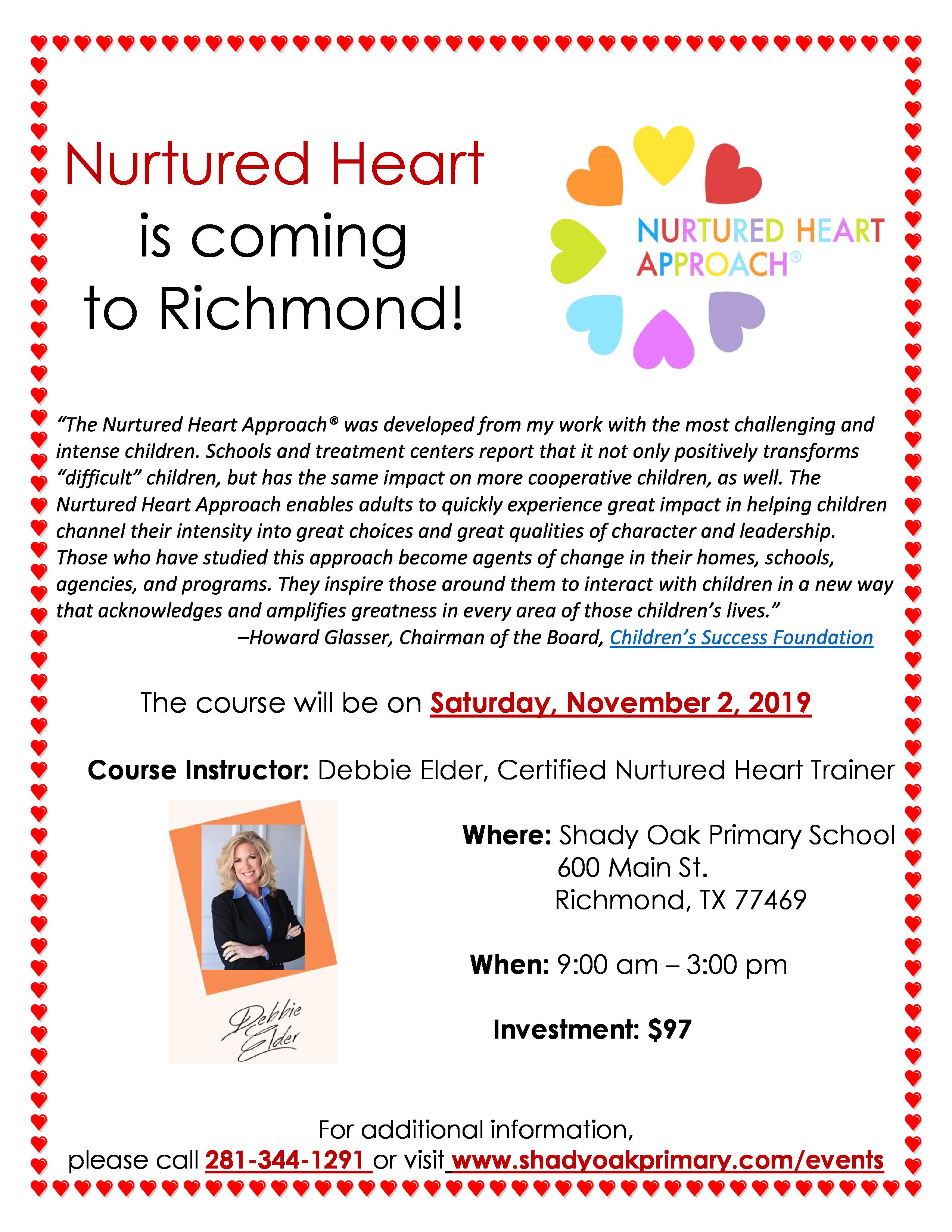 Nurtured Heart Flyer Novembr 2, 2019